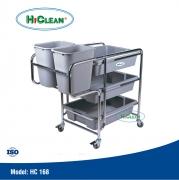 Xe thu gom thức ăn HiClean HC 168, xe don thuc an HiClean HC 168 gia tot
