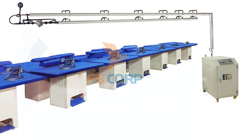 Hệ thống ủi hơi công nghiệp hoàn chỉnh MTD-01