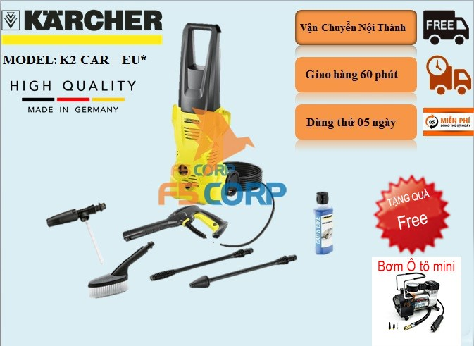 Máy phun áp lực Karcher K2 Car EU*
