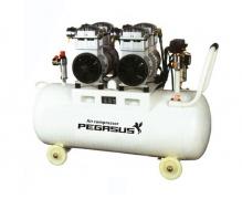 Máy nén khí không dầu giảm âm Pegasus TM- OF750x2- 70L