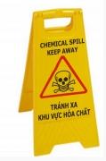 Biển báo khu vực hóa chất nguy hiểm chữ A