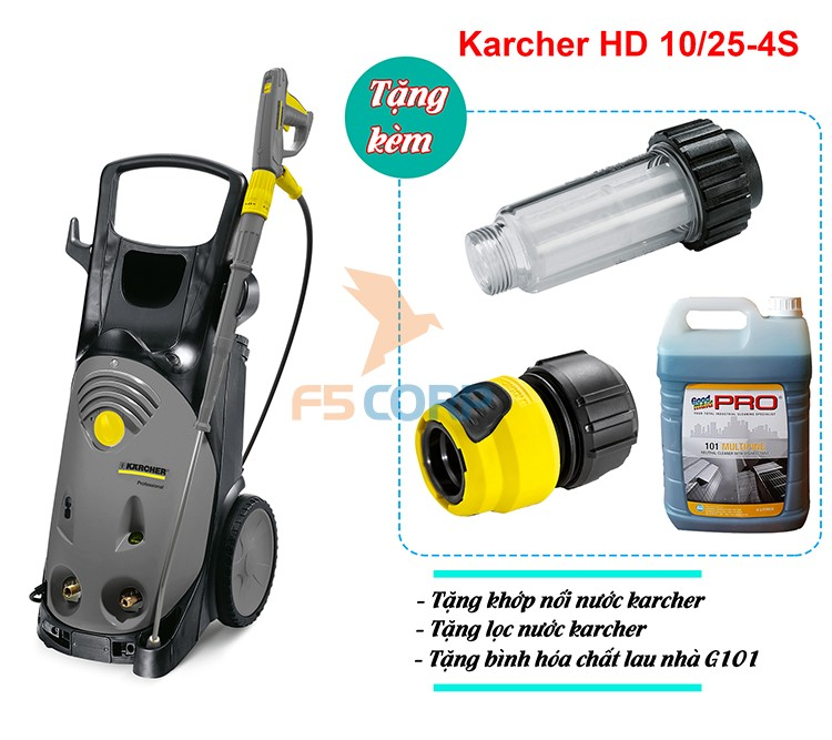 Máy phun rửa cao áp Karcher HD 10/25-4 S *EU-I mã 1.286-902.0