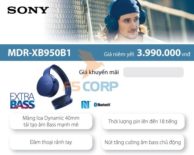 Tai nghe cao cấp di động Sony MDR-XB950B1