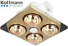 Đèn sưởi 4 bóng Kottmann âm trần K4B-T