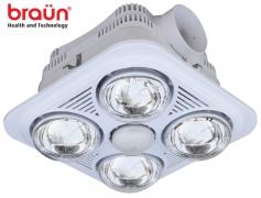 Đèn sưởi nhà tắm Braun BU04 (4 bóng vàng âm trần)