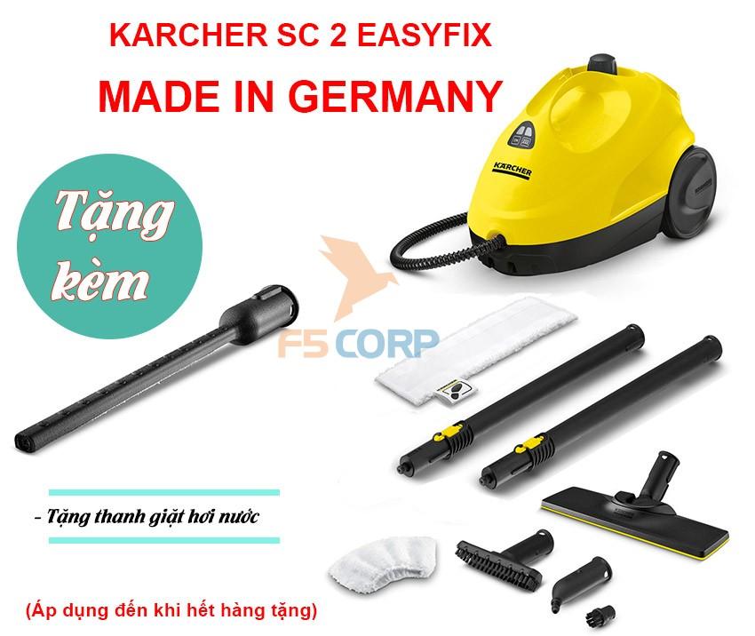 Máy làm sạch bằng hơi nước nóng Karcher SC 2 EasyFix *EU Made in Germany mã 1.512-050.0