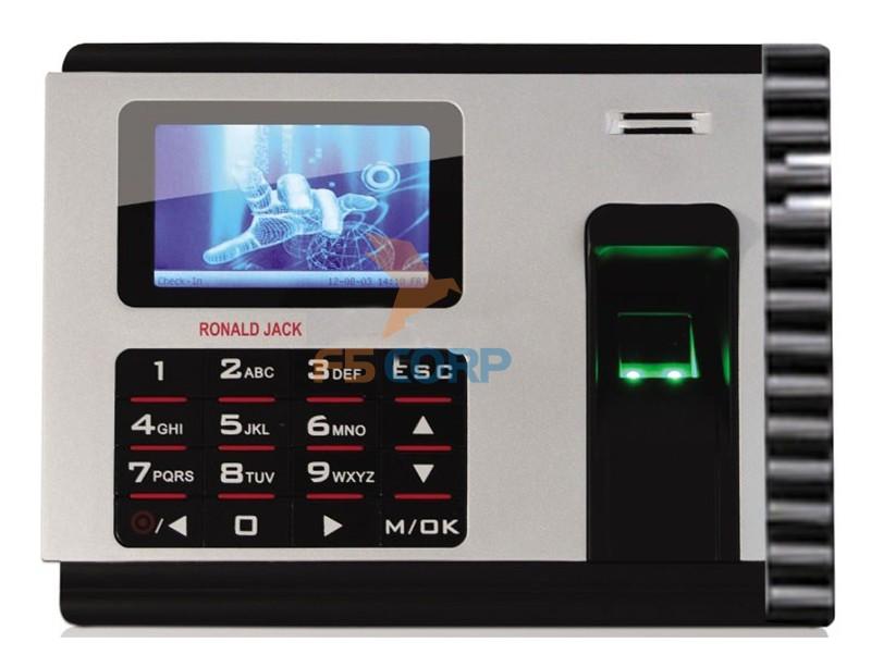 Máy chấm công vân tay tích hợp pin lưu điện Ronald Jack X828C