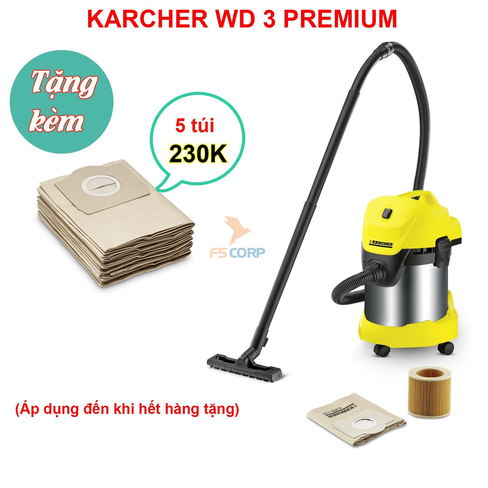 Máy hút bụi - nước và thổi Karcher WD 3 Premium
