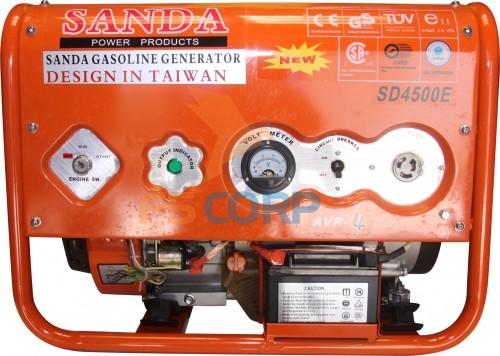 Máy phát điện chạy xăng Sanda SD4500E (đề nổ)