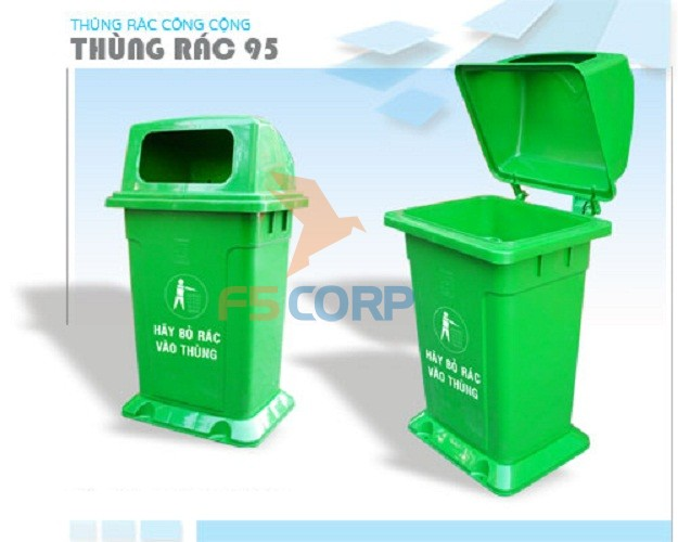 Thùng rác nhựa HDPE 95L
