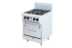 Bếp gas Âu 4 bếp có lò nướng DR04L