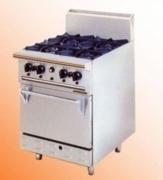 Bếp gas Âu 6 bếp có lò nướng Berjaya DR06L