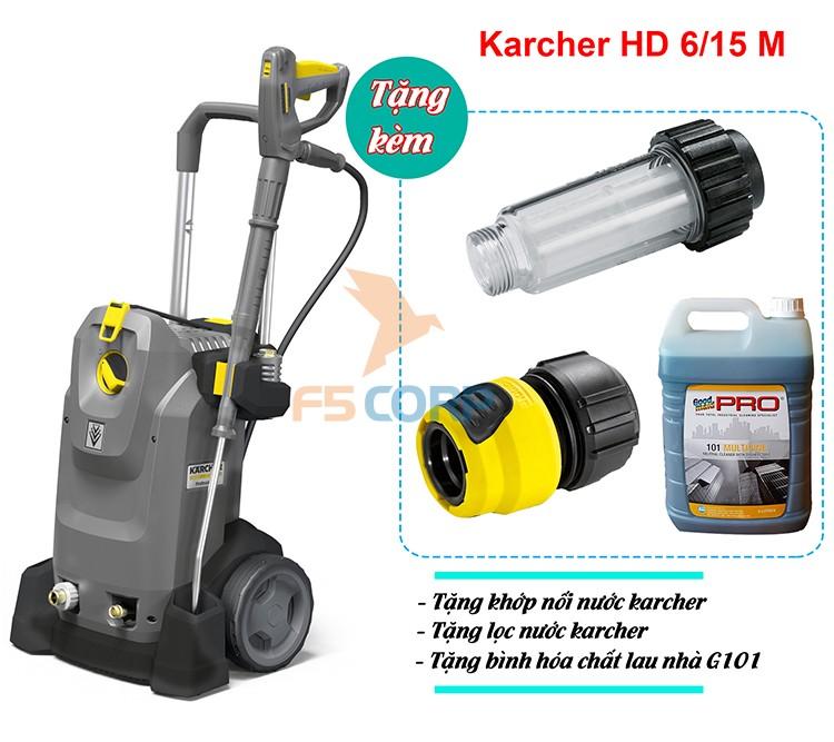 Máy phun áp lực Karcher HD 6/15 M + 1 Hose Coupling + Refilter (9.653-223.0)