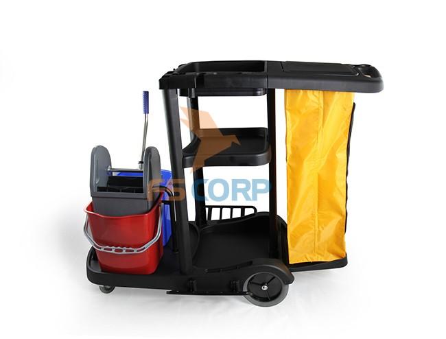 Xe đẩy làm phòng màu đen Smart Eco