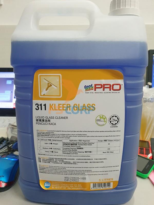 Nước lau kính Goodmaid G311-Kleer Glass Made in Malaysia can 5 L
