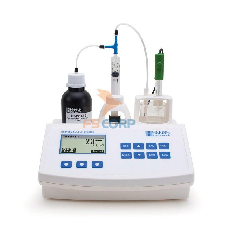 Máy đo chuẩn độ SO2 cho rượu Hanna HI84500-02