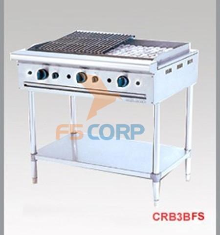 Bếp nướng than nhân tạo ba bếp CRB 3BFS