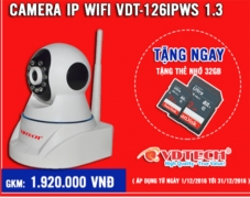 Camera IP Wifi VDT-126IPWS 1.3