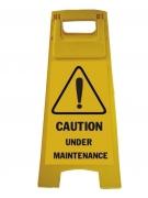 Biển báo chữ A Caution under maintenance GD-241-050