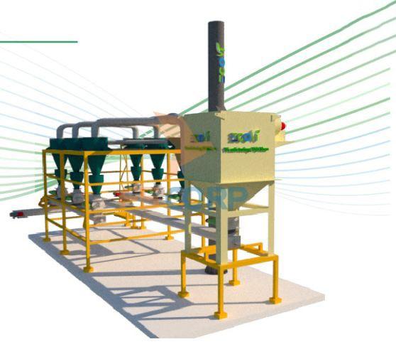 Hệ thống hút bụi - Tổ hợp Cyclone và túi lọc công nghiệp F5 Eco