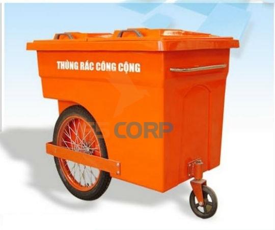Xe đẩy rác nhựa Composite 660L