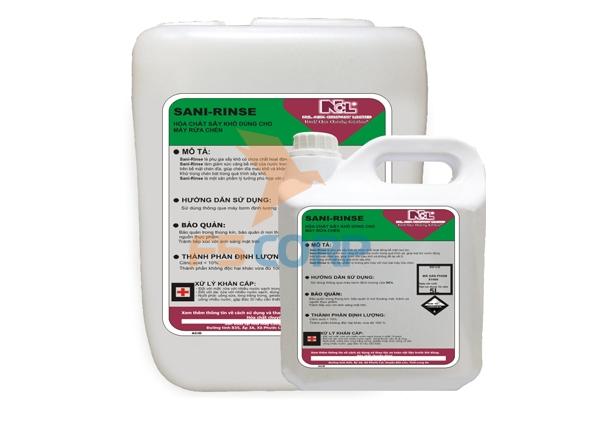 Hóa chất sấy khô dùng cho máy rửa chén Sani Rins 20L