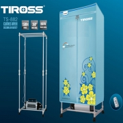 Máy sấy quần áo TIROSS, 1500W, có điều khiển từ xa, dạng tủ