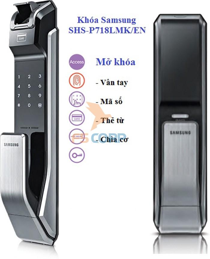 Khóa cửa vân tay điện tử SAMSUNG SHS-P718LMK/EN