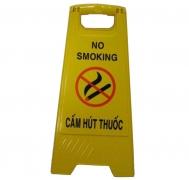 Biển báo chữ A Cấm hút thuốc - No Smoking GF-011-600