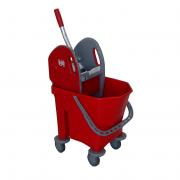 Xe lau nhà 25L Kleanway Ecomix có giỏ vắt màu đỏ KWMB1000R